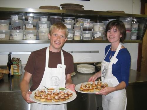 Chefs Blosser with our Saffron Risotto Cakes