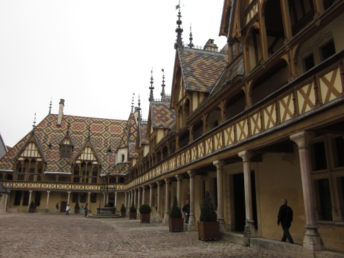 Courtyard at the hospital in Beaune