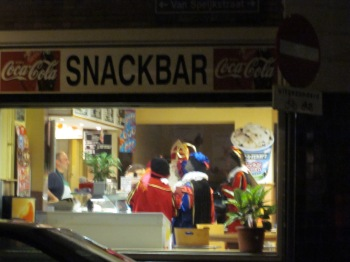 Sinterklaas and the Pieten getting frites, I assume.