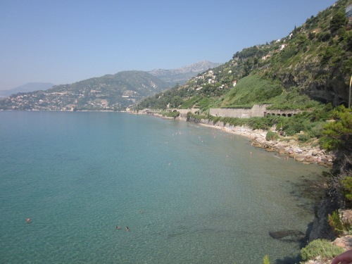 Beach at Ventimiglia Old Town