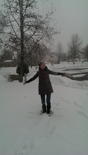 Embracing the new year and the SNOW! in New Jersey last week