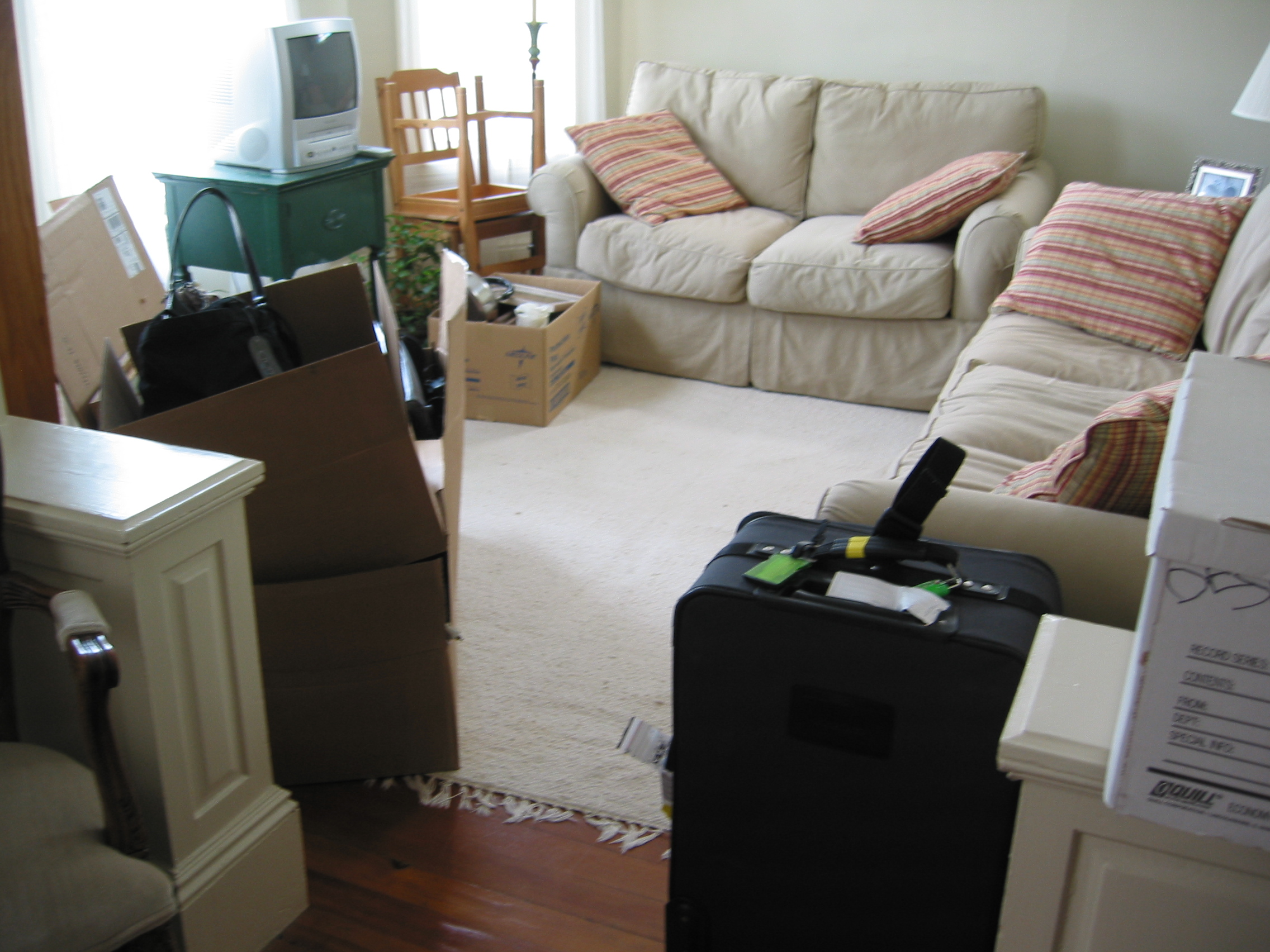 ... Bearing The Hideous Television, You Can See The Table In Question, In  My Shared Apartment In 2005. (All The Nicer Furniture Belonged To My  Roommate.)